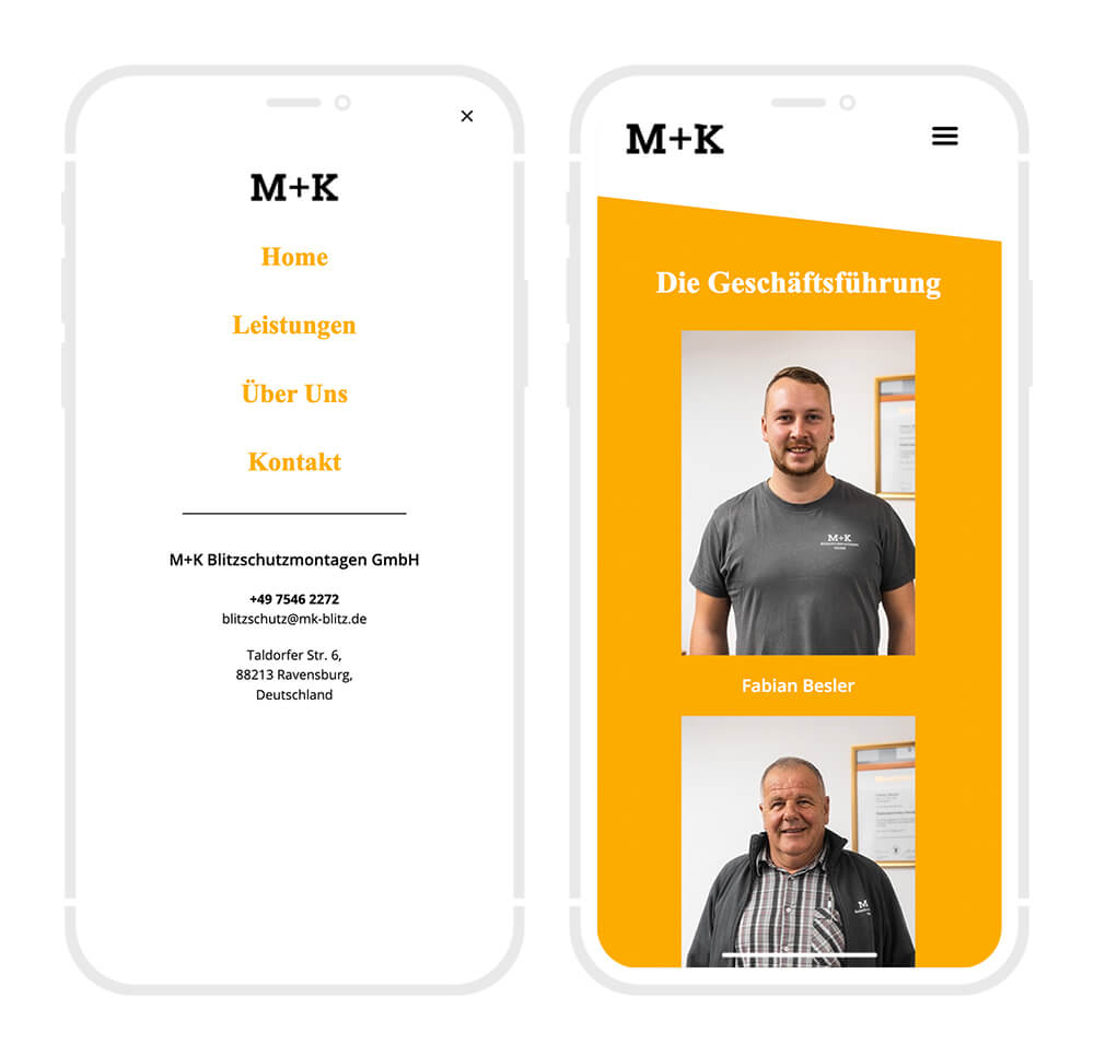 Blitzschutz Mobile Webseite