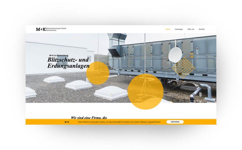 M+K Blitzschutz Webseite